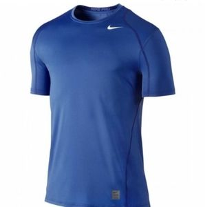 New Nike Pro Fitted Dri-Fit  blue Shirt
